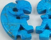 Blue Howlite Kokopelli 40mm (224)