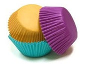 Assorted Jewel Colored Cupcake Liners - MINI (100) ON SALE