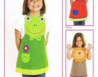 Jungle Friends Child's Apron Sewing Pattern