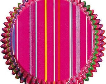 Snappy Stripes Cupcake Liners (75) ON SALE