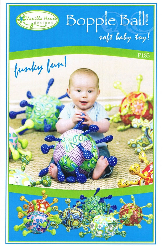 Vanilla House Bopple Ball Baby Toy Sewing Pattern