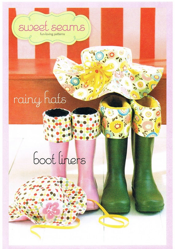 Rainy Hats and Boot Liners Sewing Pattern