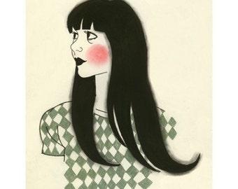 Fashion illustration Dorothy -  - 8.3 X 11.7 print - 4 for 3 SALE