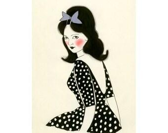 "Fashion print ACEO/ ACT - Artist Trading Card 4 for 3 SALE Barbara Anne - 2.5"" x 3.5"" print"