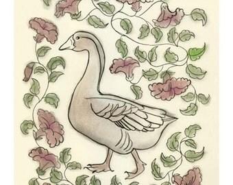 Bird Art - A walk in Provence - 4 X 6 print