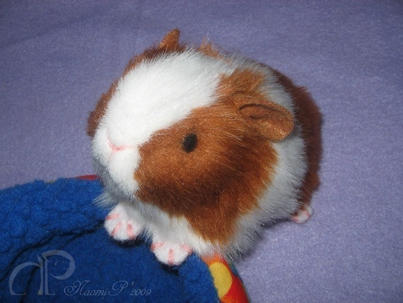 Little Guinea Pig Plush - Red and White