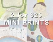 2 for 20 USD - MINI PRINTS