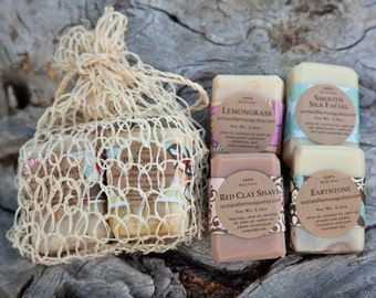 Gift Set// Four Soaps// Pure Soap// Orchard Farm//