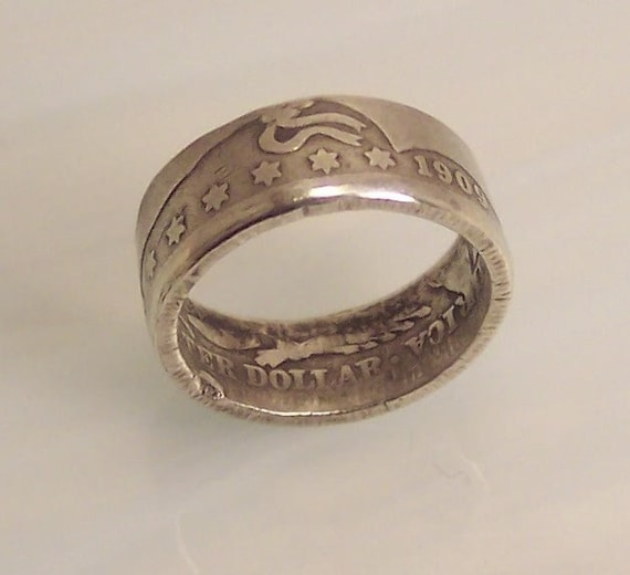 silver coin ring barber quarter dollar sz 6 1 2 by