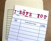 I Love You Card // Library Card // Customizable