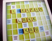 Scrabble Post Card // I Effin Love You