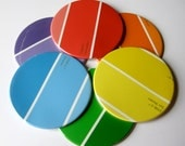 Coasters // Rainbow Recycled Paint Samples