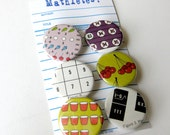 Mathlete Buttons Set of 6