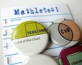 Mathlete Buttons Set of 6