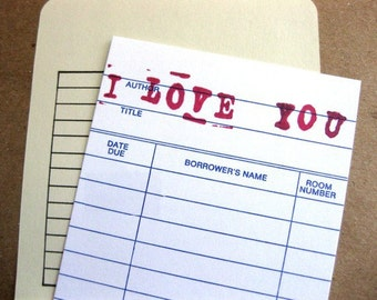 Personalized Card // I Love You