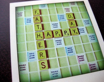 Father's Day Card // Scrabble Message Postcard