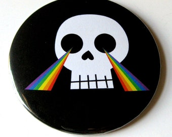 Pocket Mirror // Skull & Rainbows