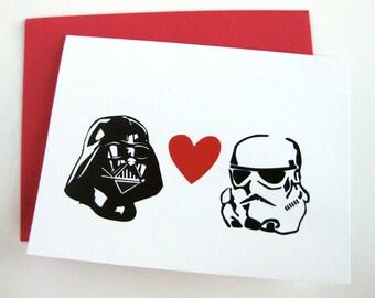 Valentine Card // Vader & Stormtrooper Card // Star Wars Inspired