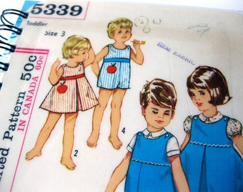 Sewing Journal & Notebook // Sewing Pattern // Baby Dress and Jumper // Recycled Vintage  // Simplicity 5339