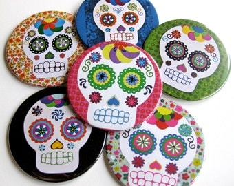 Dia de los Muertos Coasters // Sugar Skull // Day of the Dead