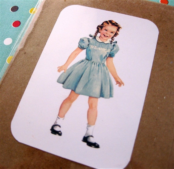 Dick and Jane Note Card Set with Vintage Flashcard Images