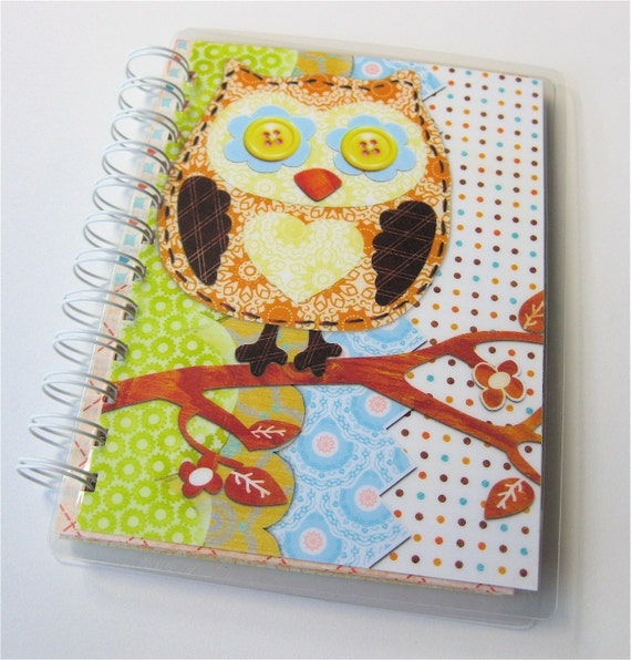Owl Coupon / Receipt Organizer and Pocket Notebook