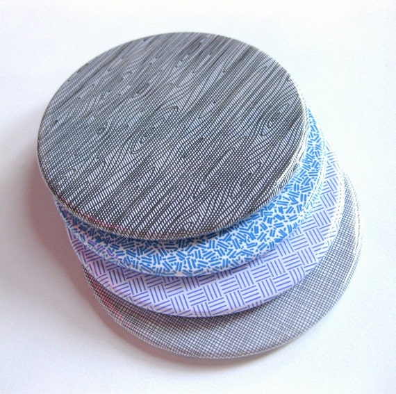 Coasters // Recycled Security Envelope