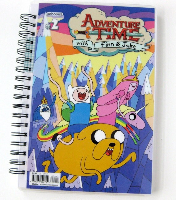 Adventure Time Sketchbook & Journal // Recycled Comic