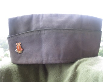 Vintage Garrison Army Hat with Signal Corps Pin - 1967