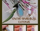 Cretan Braid Cabochon Bezel - Instant Download Wire Jewelry Tutorial Instruction PDF