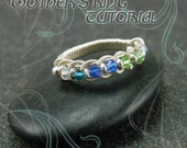 B Mother's Birthstone Coiled Woven Wire Ring -  Instant Download  Jewelry Tutorial Instruction PDF