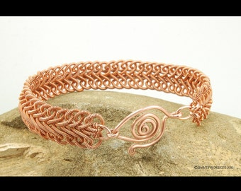 Soutache Braid Coiled Copper Wire Bracelet - Instant Download Wire Jewelry Tutorial Instruction