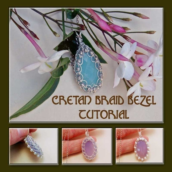 How to make Wire Jewelry PDF Tutorial Instruction ebook -Cretan Braid Cabochon Bezel