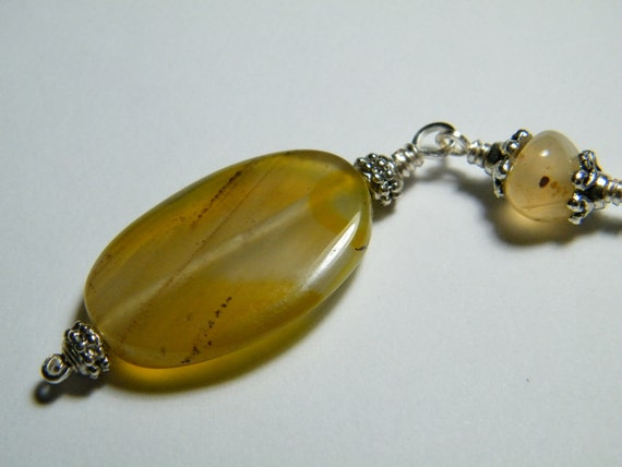Key ring: Yellow Agate  keychain