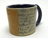 Mug in Cobalt Blue and Yellow with Mishima Designs