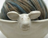 RESERVED for Haley-Lamb Yarn Bowl-Large