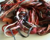 Fibers Lot - Dreamcatcher Supplies - Coral Beach - Yarn Pack - Weaving - Scrapbooking -