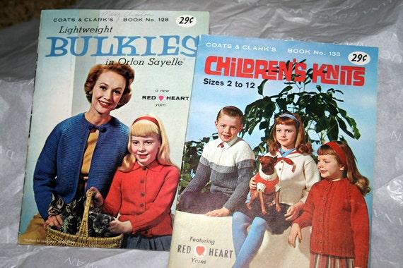 Vintage KNITTING PATTERN BOOKLETS Lot  Sale