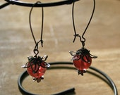 Luscious Pomegranate Neo-Victorian earrings
