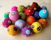 20 -one of a kind- felt beads