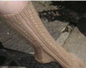 Classic Lacy Sock Pattern By Karen Walker