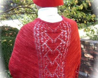LOVE IN BLOOM Lace Shawlette Pattern in Pdf by Karen Walker