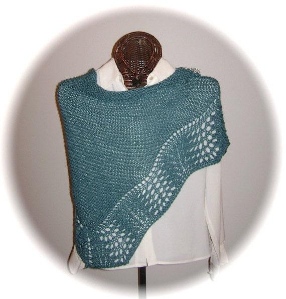 BARGAIN BIN Deep Jade Silk/Wool Scarf with Shawl Pin
