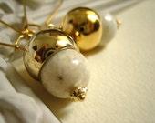 Eggnog..dangle earrings