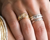 Silver Twiggy Branch Raw Set | Stacking Rings | Nature Inspired Rings