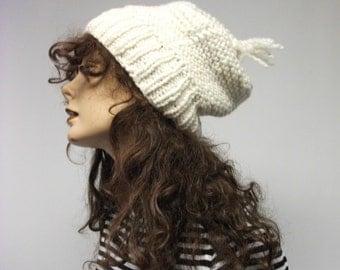 Off White Handknit  Ski hat