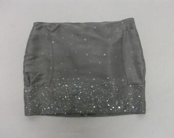 SALE Slub Silk Sparkly  Mini