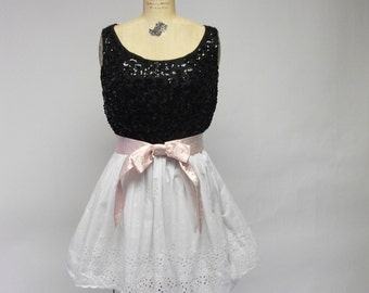SALE Black and White Cookie dress
