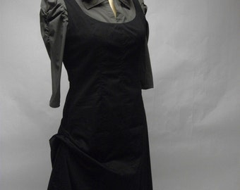 Simple Classic Black Cotton Jumper