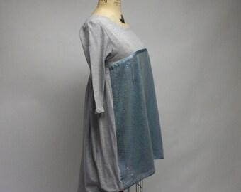 Gym Locker Grey with Bling Tunic Dress
